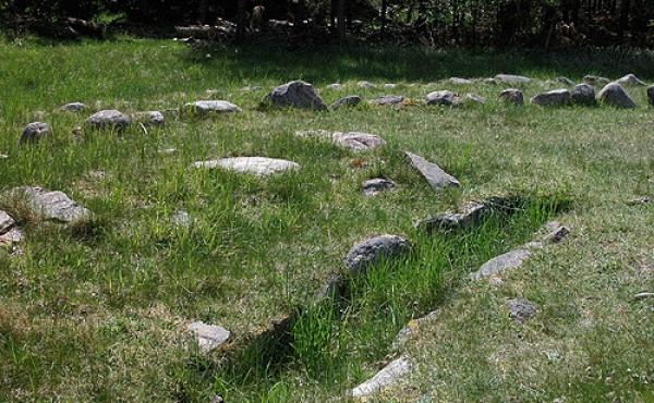 5: Stenkisten fra 2. byggefase omkring 1.000 f.Kr. set fra nord.