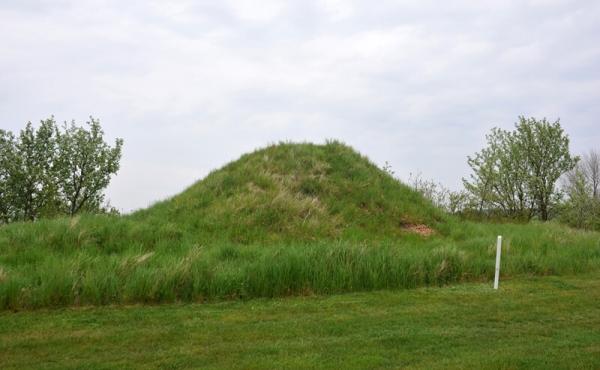 1: Lillehøj på golfbanen ved Stege Nor set fra syd.