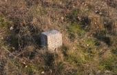 8: Fredningssten ved gravhøj med indhugget kongekrone og F.M. for