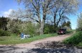 4: Markvejen fra Kongshøjvej som leder op til Thorsø Høje-gravpladsen.