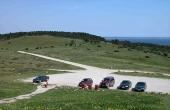 2: Parkeringspladsen ved Trehøje set fra sydvest.