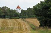4: Vium Kirke og trampestien set fra vest.