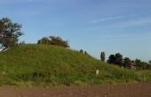 1: Gravhøjen på marken nord for Busene Have set fra nordvest.