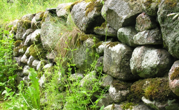 Detalje af sydmuren set fra nordvest.