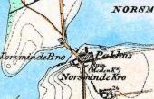 Generalstabskortet fra 1800-tallet angav stadig kirkestedet.