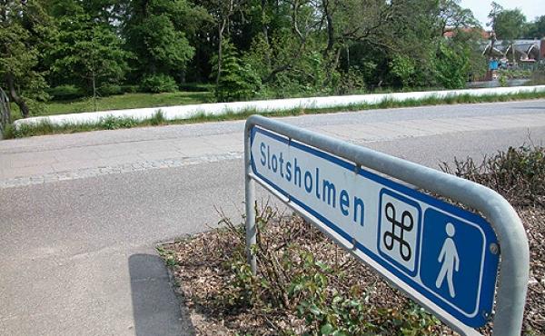 Henvisningsskiltet ved Viborgvej lige før Silkeborg Langsø.