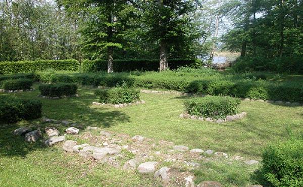 Ruinen på Slotsholmen set fra sydvest.