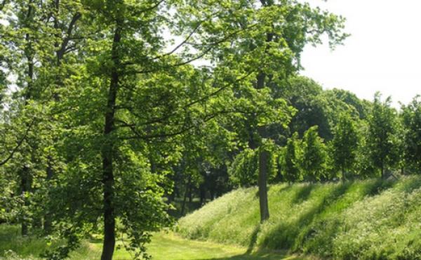 Parkområdet ved den nordre del af byvolden.