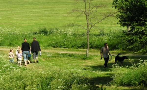 Parkområdet med byvolden er en rekreativ oase i købstaden.