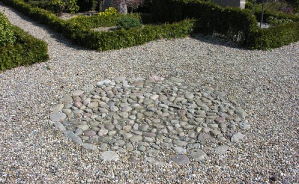 Pladsen for middelalderens helligkilde ved Vorbasse Kirke er i dag markeret med en stenlægning i sydkanten af den nuværende kirkegård lige indenfor stendiget.