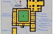 Plantegning af det fuldt udbyggede kloster ved Øm. (Efter H. Garner 1984)