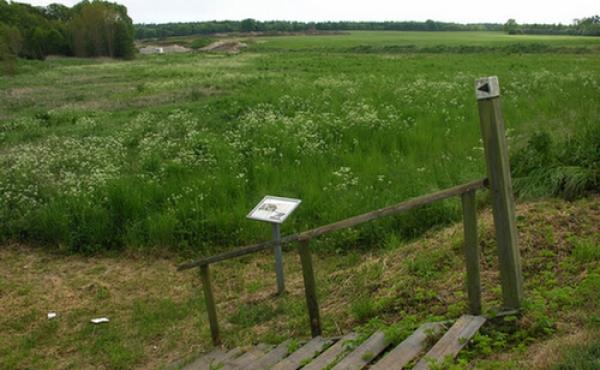 3: Infotavle og trappe ved Risby- vejen.