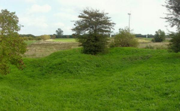 Panorama over skansen set fra nordvest.