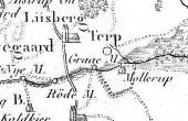 Udsnit fra Videnskabernes Selskabs kort fra slutningen af 1700-tallet. Her ses vejene til og fra Gråmølle.