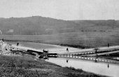Den engelske kassebro sprængt af preusserne i 1864.