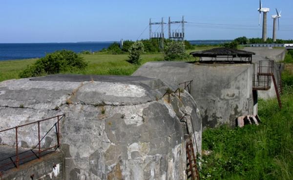 Kanonbatteriet ved Masnedø-fortet set fra nordøst.