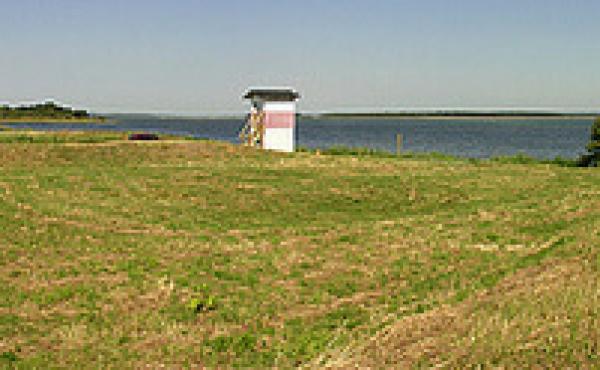 Panorama over skansebanken set fra syd.