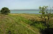Udsigten over Ulvshale Løb og Nyord nordvest for skansen. Under Englandskrigene kunne sejlløbet suverænt overskues fra skansen.