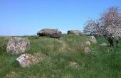 3: Langdyssen med dens to gravkamre set fra sydvest.