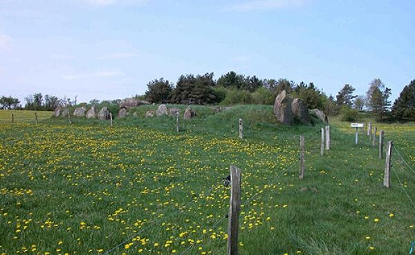 3: Langdyssen med dens flotte randstenskæde set fra øst.