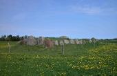1: Den restaurerede Ildbjerggård-langdysse er en af Djurslands fineste langdysser. Her set fra sydøst.