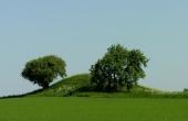 2: Jordehøj - jættestuen med velformet høj set fra sydvest.