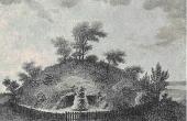 Klekkendehøj tegnet i 1822 i Pastor Paludans Mønbeskrivelse.