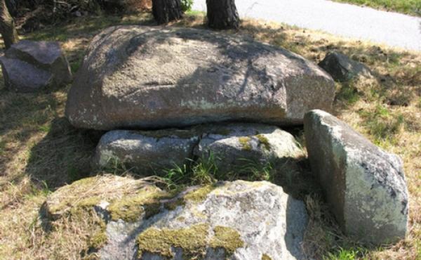 Vestlige gravkammer set fra nord.
