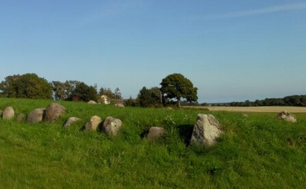 Panorama over langdyssen set fra nordvest. Klik på billedet for stor udgave.