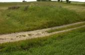 Langdyssens østende er afskåret af grusvejen.