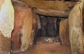 Den indre del af kammergang- en og udmundingen i gravkammeret.
